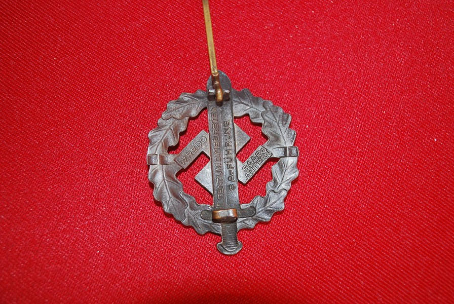 Ww2 German Sa Sports Badge B Sold