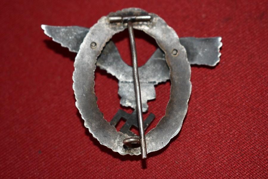 WW2 GERMAN LUFTWAFFE PILOTS BADGE  b-SOLD