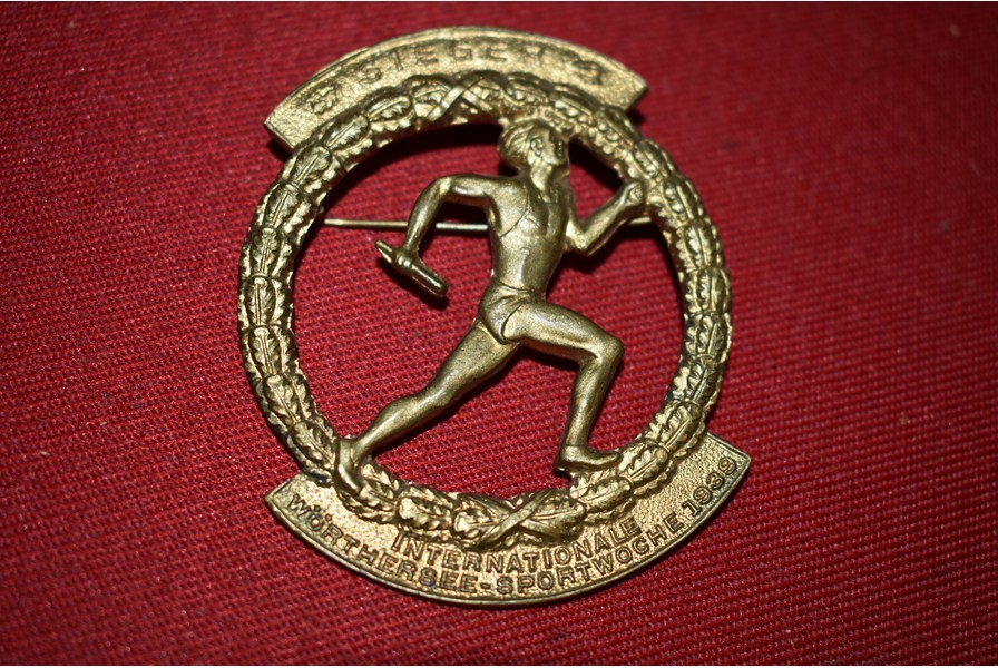 Ww2 German International Sports Week Badge 1939 B