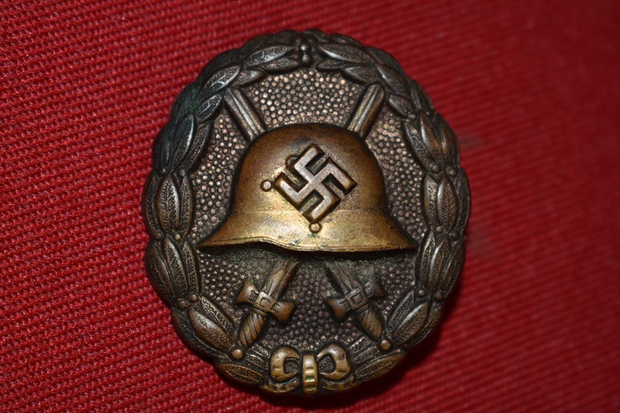 GERMAN CONDOR LEGION WOUND BADGE AND CERTIFICATE-SOLD