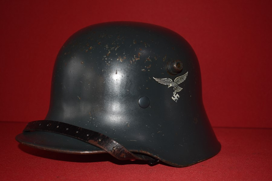 WW2 GERMAN LUFTWAFFE DOUBLE DECAL TRANSITIONAL HELMET-SOLD