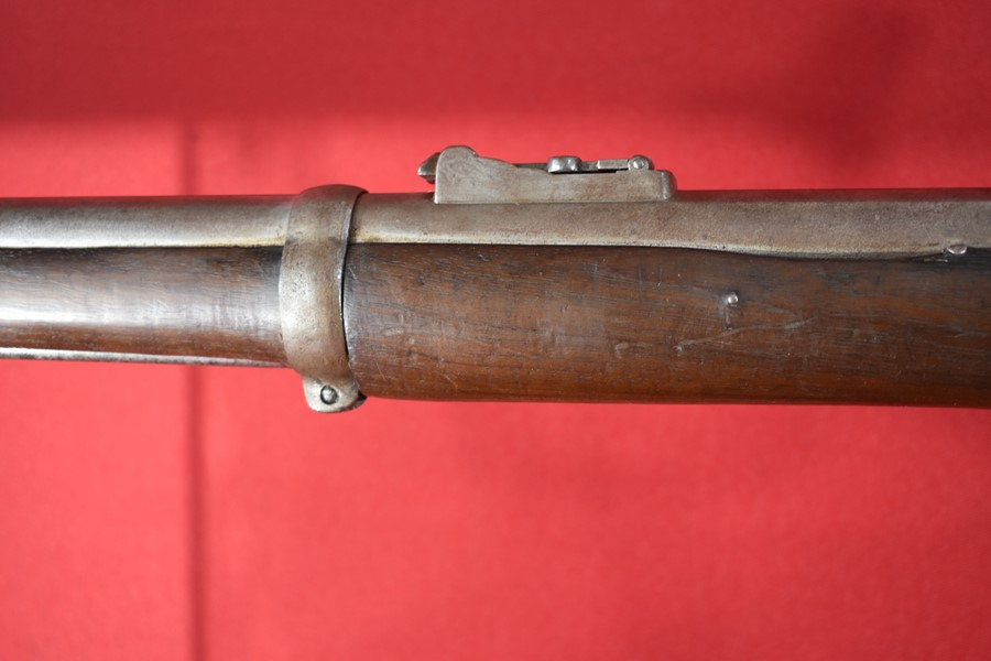 P1856 ENFIELD ARMY SHORT RIFLE KNOWN AS THE 2 BAND SERGEANTS