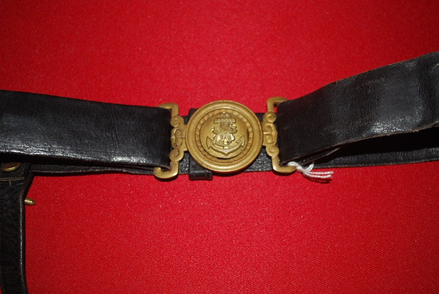 WW2 JAPANESE NAVAL OFFICERS BELT AND BUCKLE-SOLD