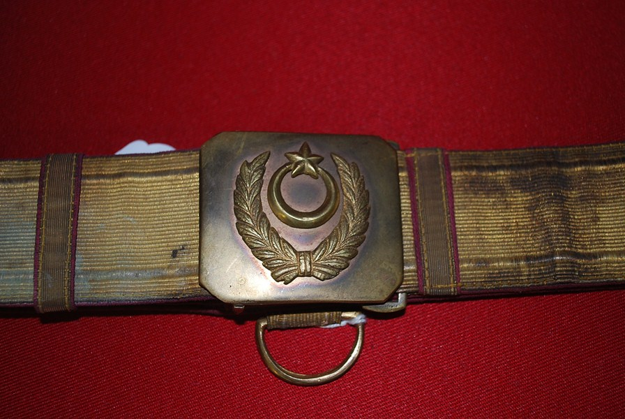 WW1 TURKISH OFFICERS BELT AND BUCKLE