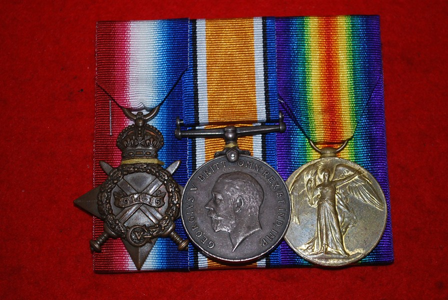 WW1 ROYAL NAVY TRIO OF MEDALS