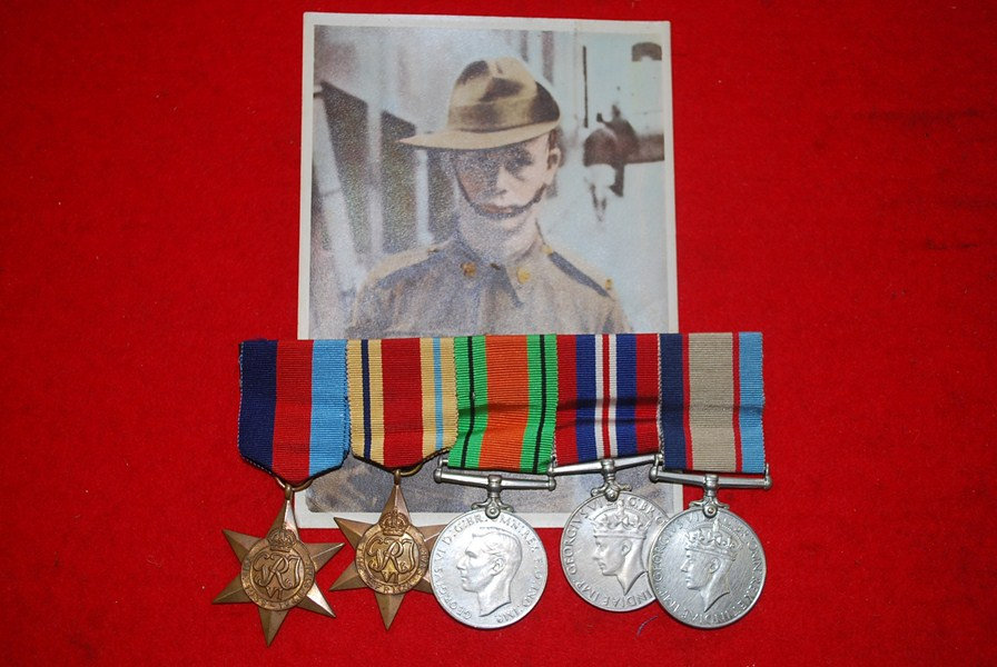 AUSTRALIAN WW2 KIA MEDAL GROUP
