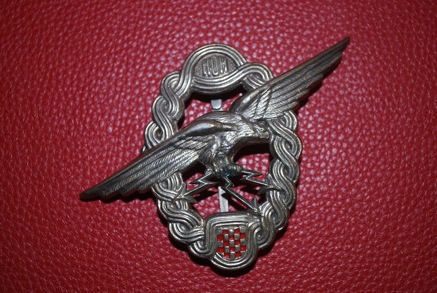WW2 CROATION PILOT/OBSERVER BADGE-SOLD