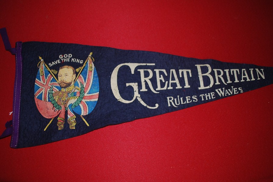 WW1 BRITISH PATRIOTIC PENNANT-SOLD