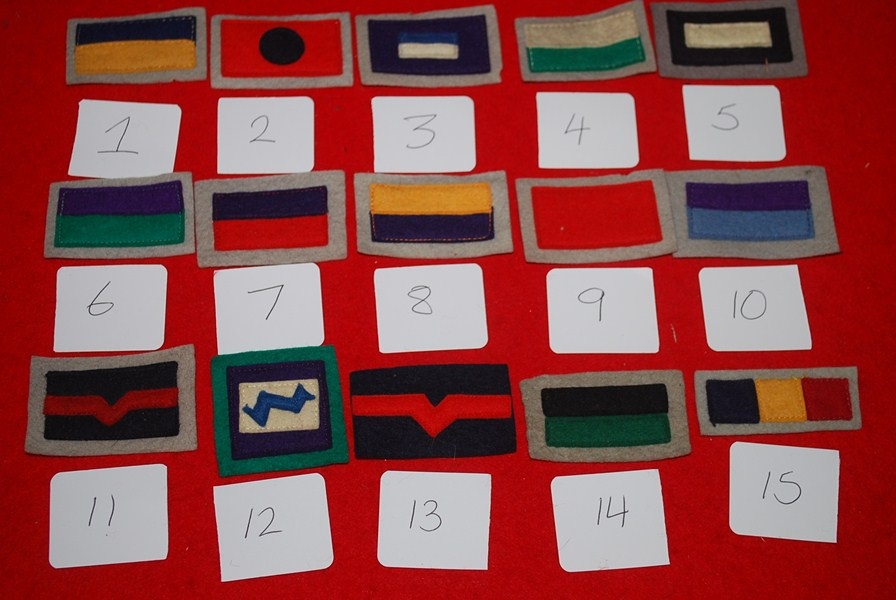 WW2 AUSTRALIAN COLOUR PATCHES TRAY 3
