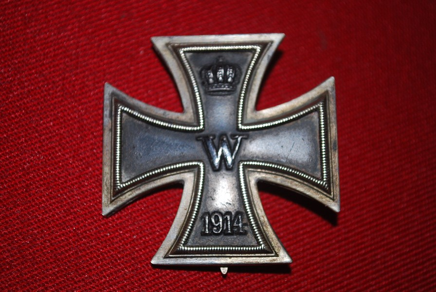WW1 GERMAN IRON CROSS FIRST CLASS. VON HADEIN SW AFRICA