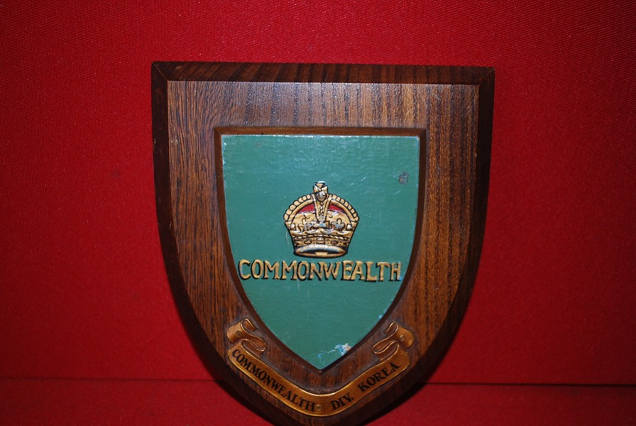 COMMONWEALTH DIVISION KOREA WALL PLAQUE