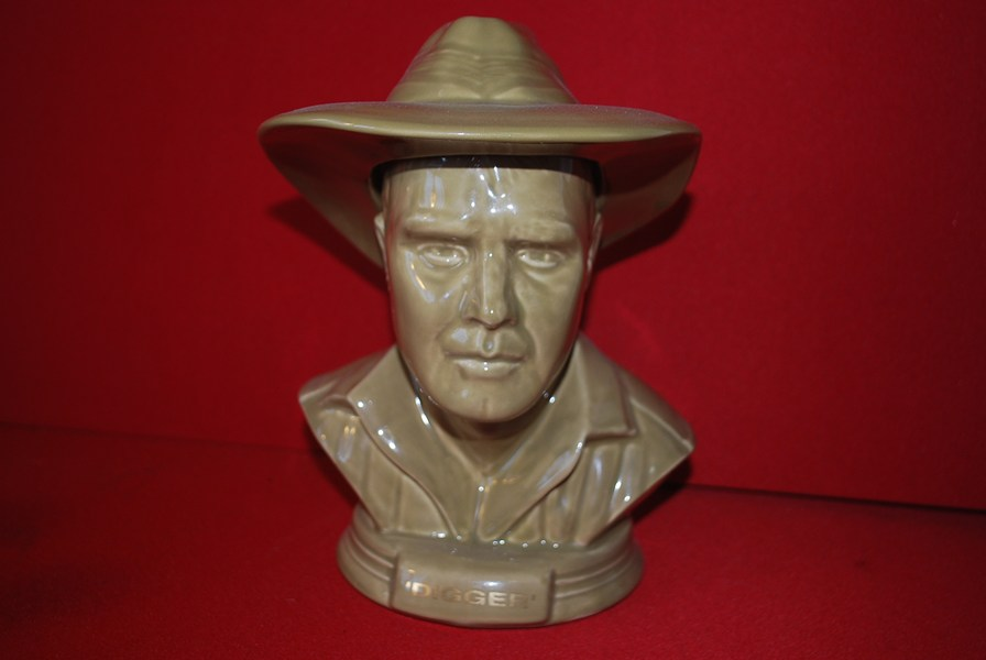 AUSSIE DIGGER PORT DECANTER-SOLD