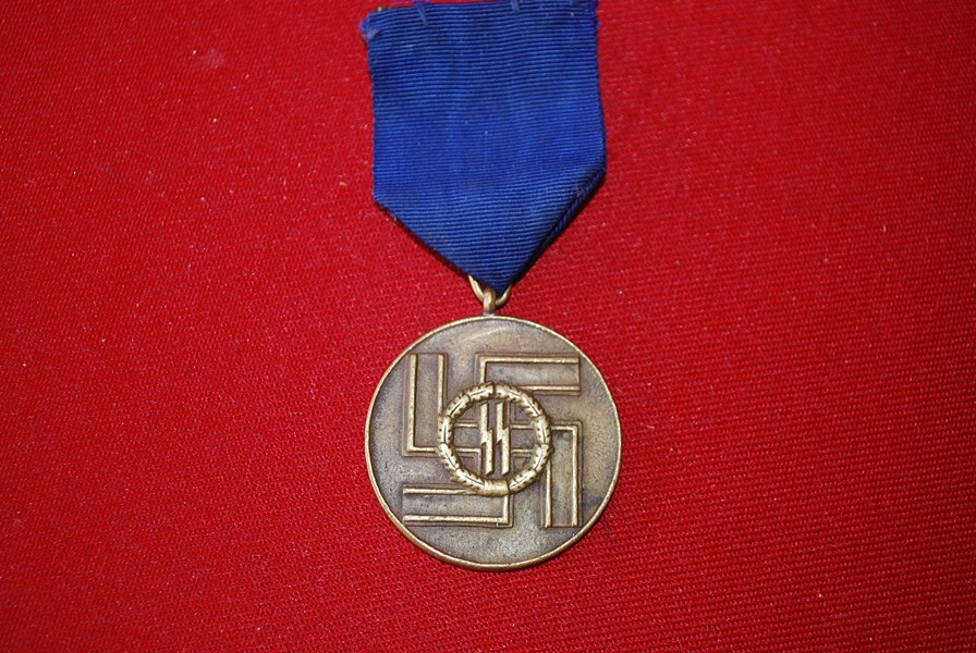 WW2 GERMAN SS LONG SERVICE MEDAL-SOLD