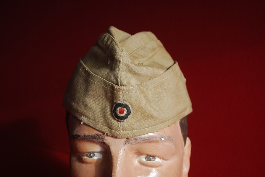WW2 GERMAN LUFTWAFFE TROPICAL SIDE CAP AFRICA KORPS