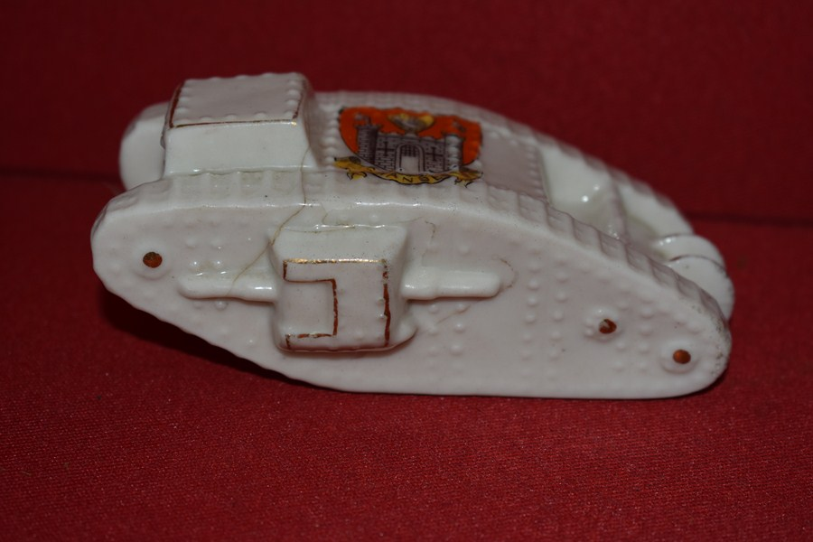 CRESTED WARE WW1 TANK