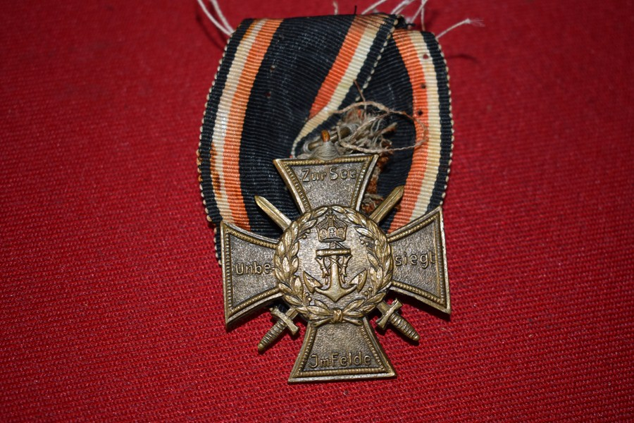 WW1 IMPERIAL GERMAN MARINE OR FLANDERS VETERANS CROSS