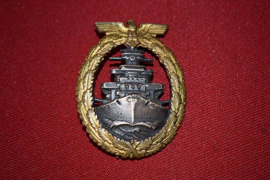 WW2 GERMAN HIGH SEAS FLEET BADGE