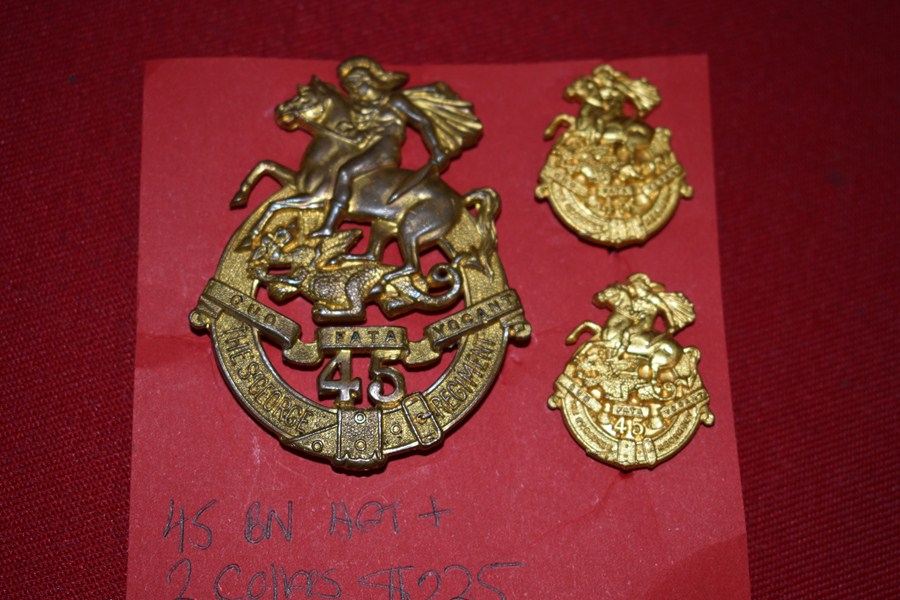 AUSTRALIAN ARMY BADGES 45 BN (ST GEORGES REGT) 30-42