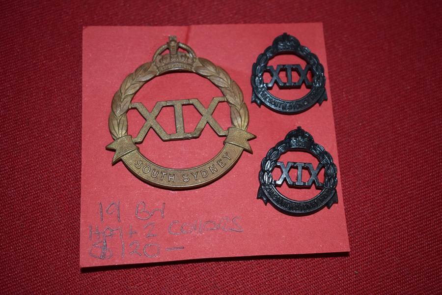 AUSTRALIAN ARMY BADGES 19 BN (SOUTH SYDNEY) 30-42