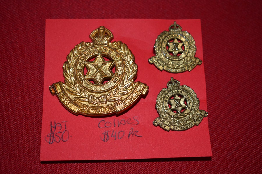 AUSTRALIAN ARMY BADGES 10 BN (ADELAIDE RIFLES) 30-42-SOLD