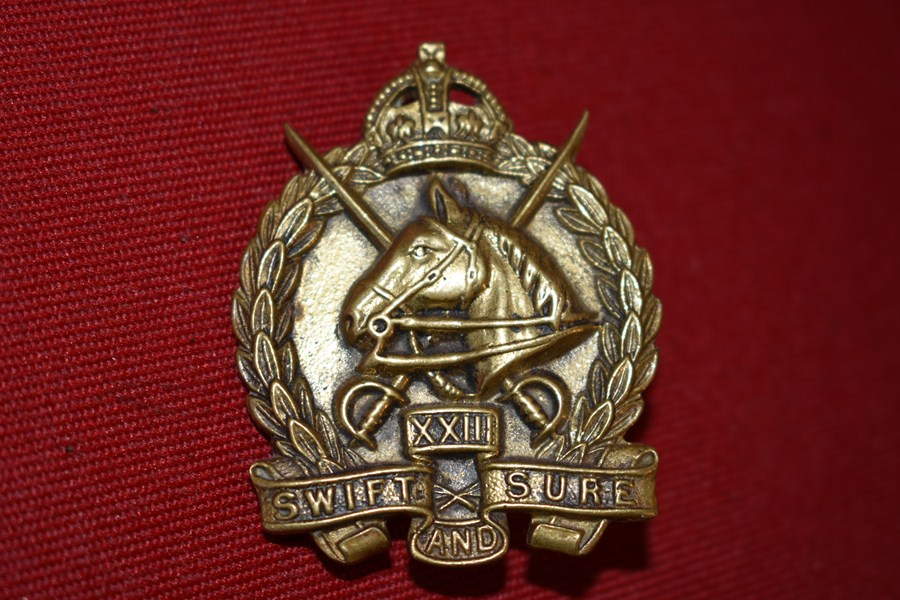 AUSTRALIAN ARMY LIGHT HORSE HAT BADGE 23rd LIGHT HORSE 30-42-SOLD