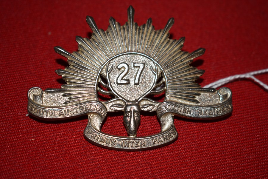 AUSTRALIAN ARMY BADGE 27BN SOUTH AUSTRALIAN SCOTTISH. 30-42.