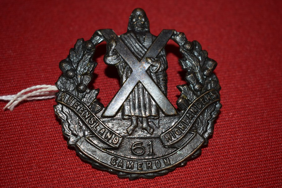 AUSTRALIAN ARMY BADGE 61 BN CAMERON HIGHLANDERS OF QUEENSLAND. 30-42