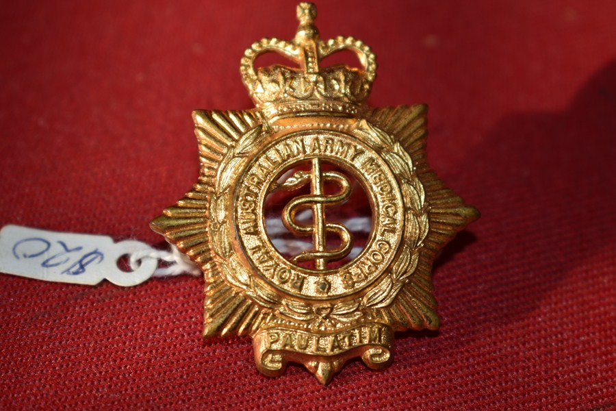 AUSTRALIAN ARMY HAT BADGE. MEDICAL CORPS. 53-60