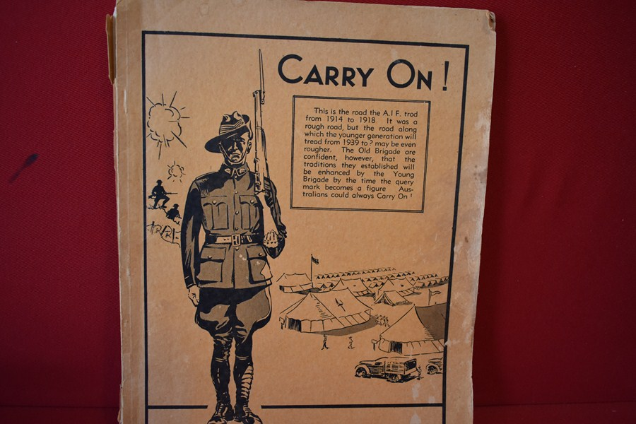 "WW1 AUSTRALIAN BOOK ""CARRY ON""-SOLD"