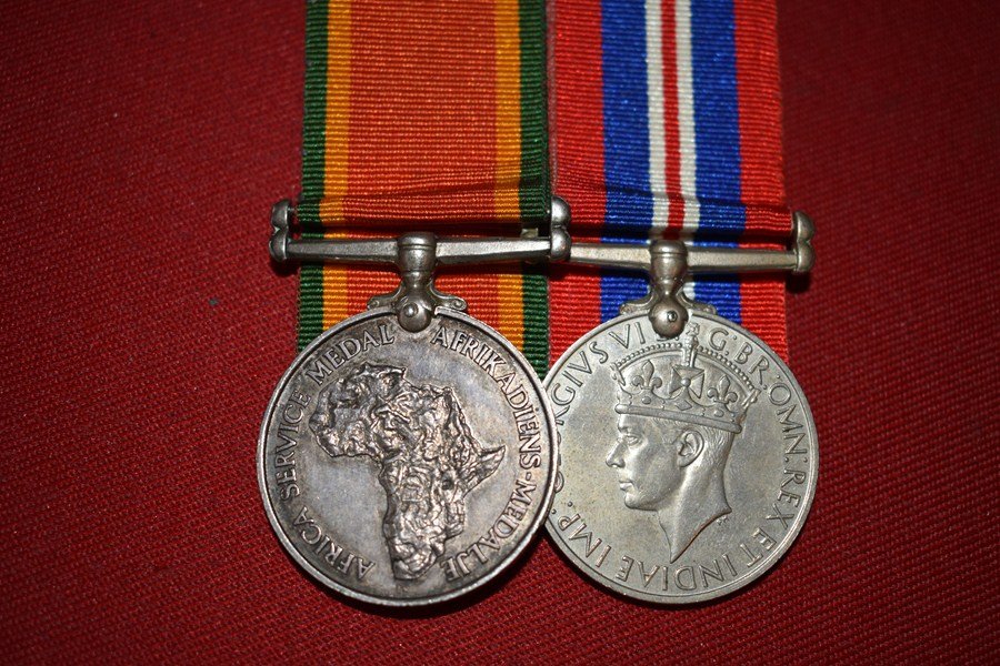 WW2 SOUTH AFRICAN MEDAL PAIR-SOLD