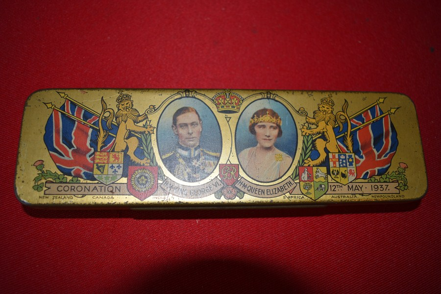 CORONATION TIN KING GEORGE V1-SOLD