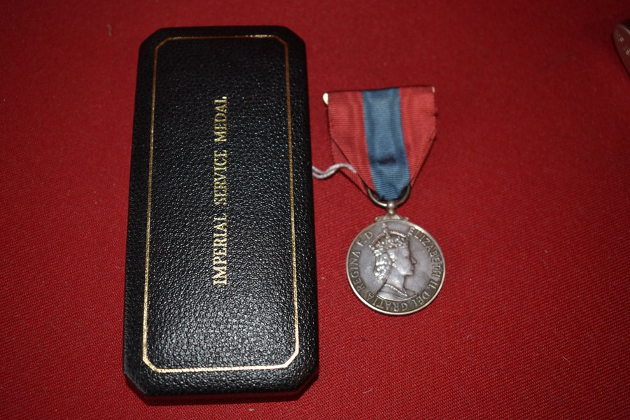 IMPERIAL SERVICE MEDAL QEII NAMED