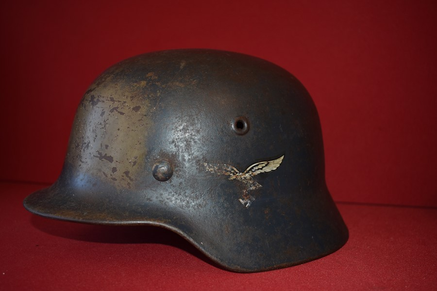 WW2 GERMAN DOUBLE DECAL LUFTWAFFE HELMET.