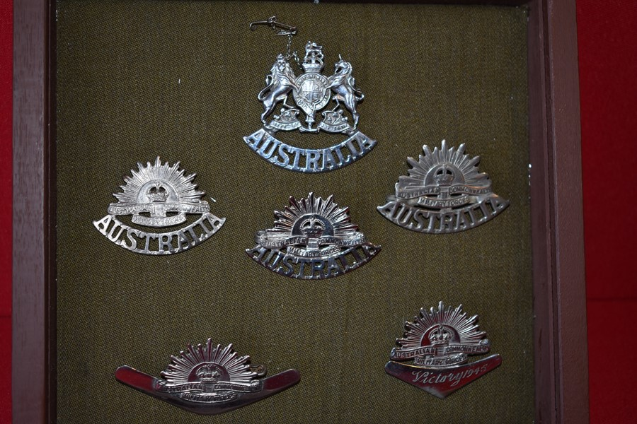 COLLECTION OF AUSTRALIAN RISING SUN BADGES