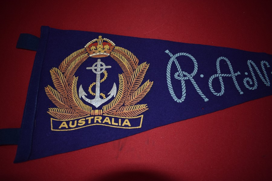 WW2 ROYAL AUSTRALIAN NAVY FELT PENNANT-SOLD
