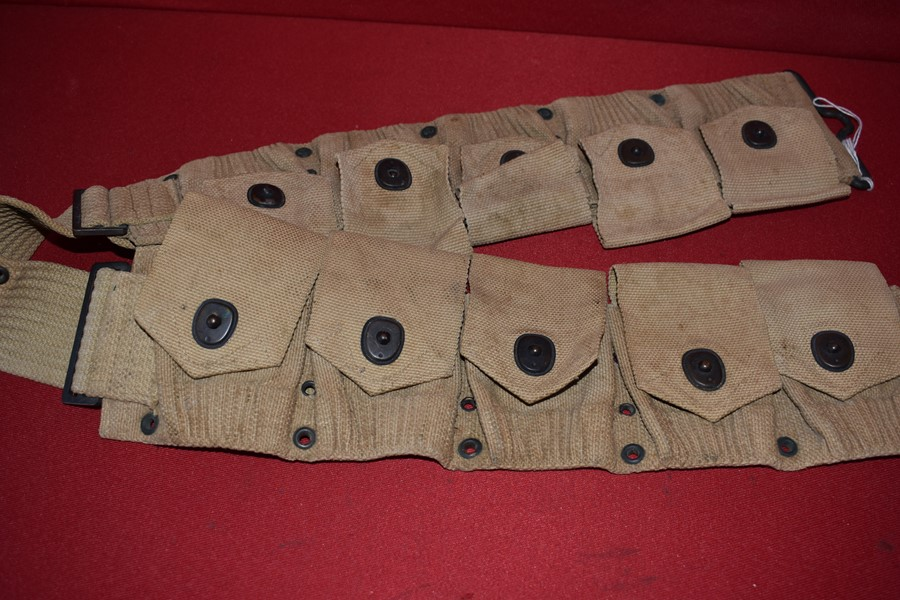 WW1 US MILLS CARTRIDGE BELT