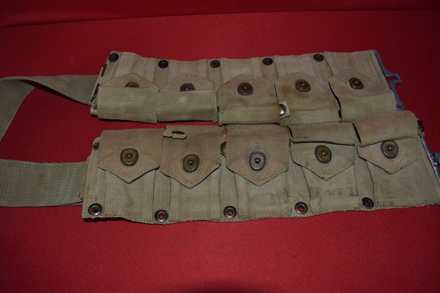 WW2 US 10 POCKET CARTRIDGE BELT