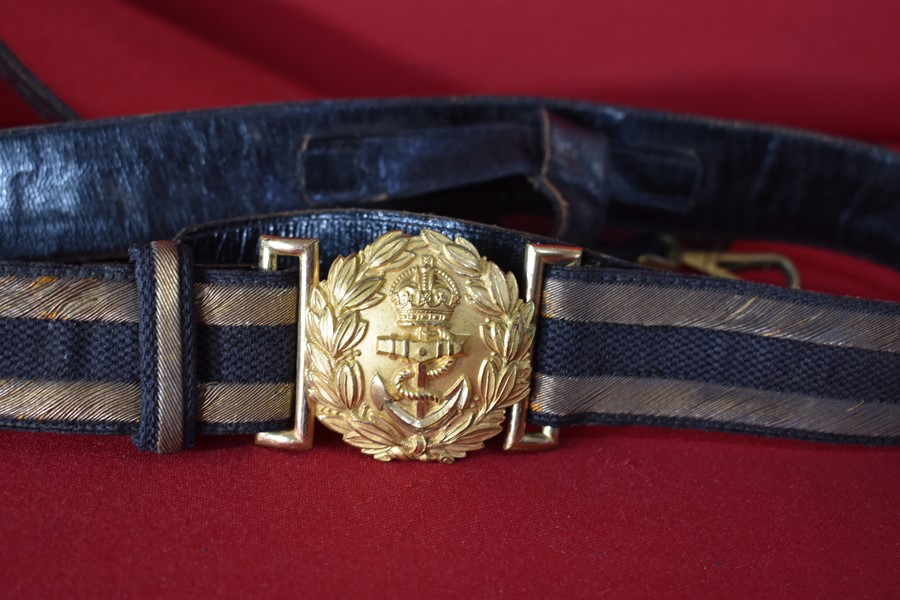 WW2 ERA RN/RAN OFFICERS SWORD BELT