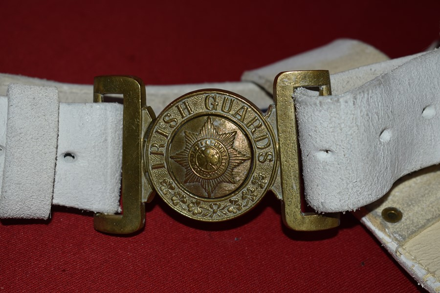 IRISH GUARDS PARADE BELT AND BAYONET FROG