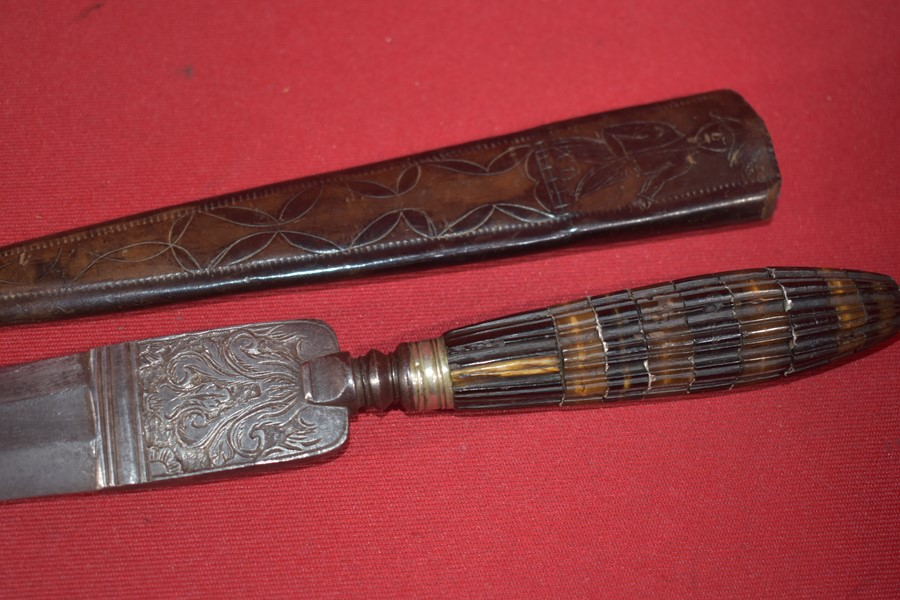19TH CENTURY MEDITERRANEAN DAGGER AND SCABBARD