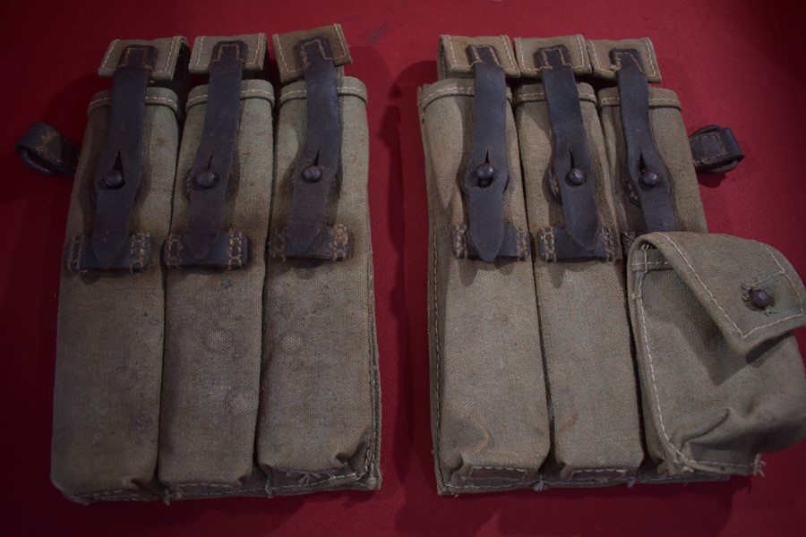 WW2 GERMAN PAIR OF MP40 AMMO POUCHES
