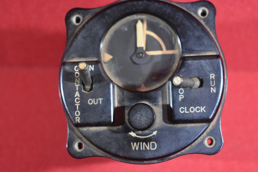 WWII WORKING Aircraft IFF Contactor Timer BC-608-A Recognition Clock Unit P-51.