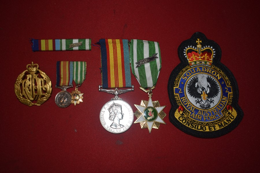 AUSTRALIAN VIETNAM WAR MEDAL PAIR, RAAF 2 SQN AIR DEFENCE GUARD PHANG-RANG