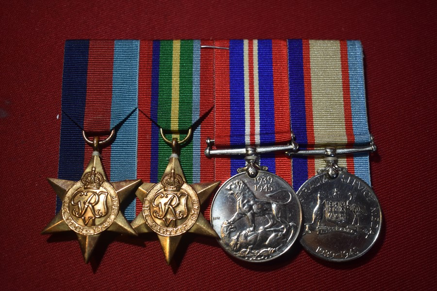 WW2 AUSTRALIAN PACIFIC STAR 4 MEDAL GROUP 30 INF BN-SOLD