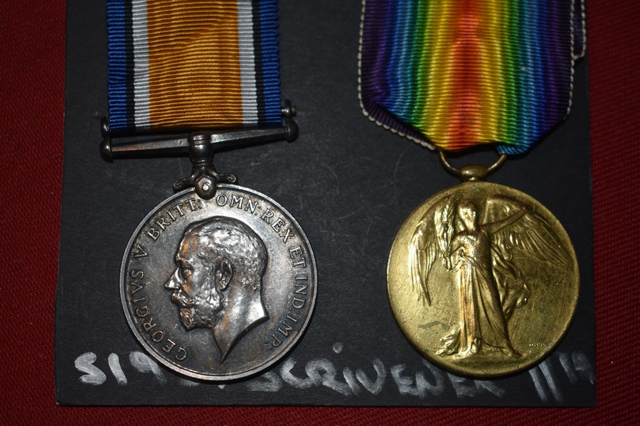 AUSTRALIAN WW1 PAIR OF MEDALS TO 11 BN, WOUNDED IN ACTION (WIA).