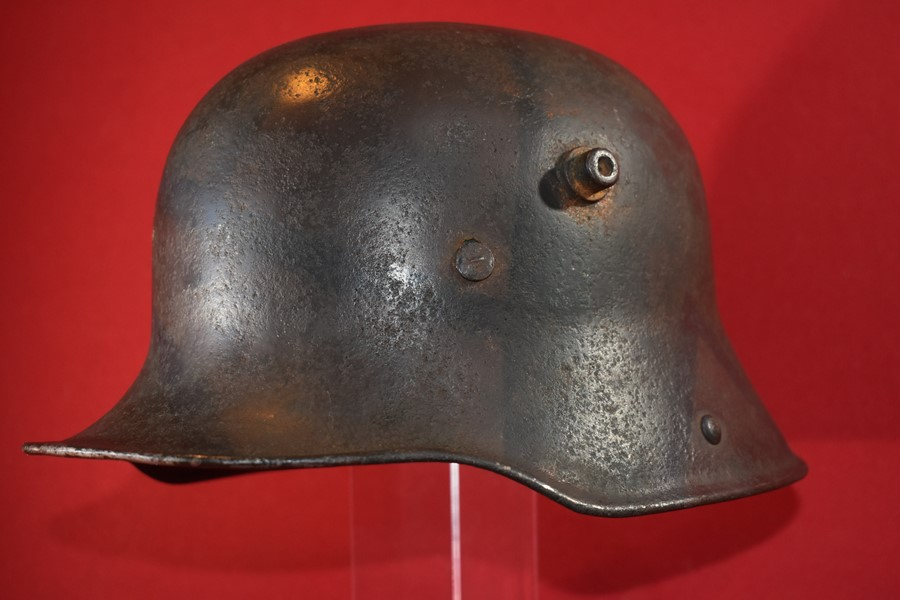WW1 GERMAN CAMOFLAGUE HELMET (NO LINER)