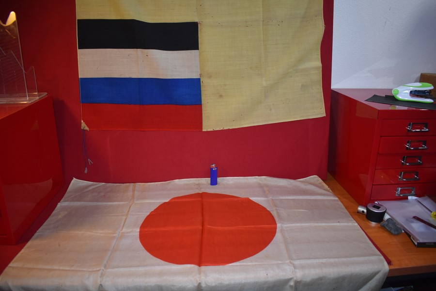 PAIR OF WW2 JAPANESE FLAGS