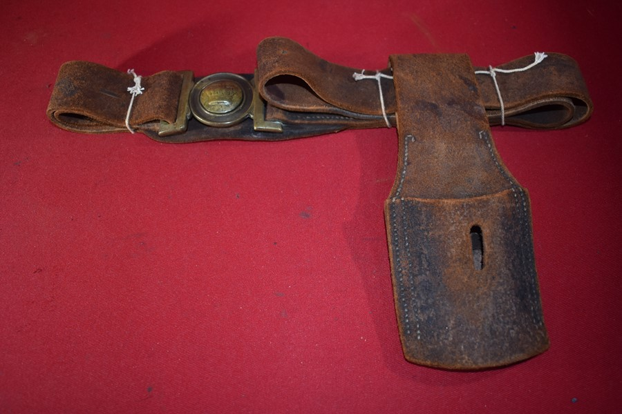 COLONIAL AUSTRALIAN BELT, BUCKLE AND BAYONET FROG- SOUTH AUSTRALIA.
