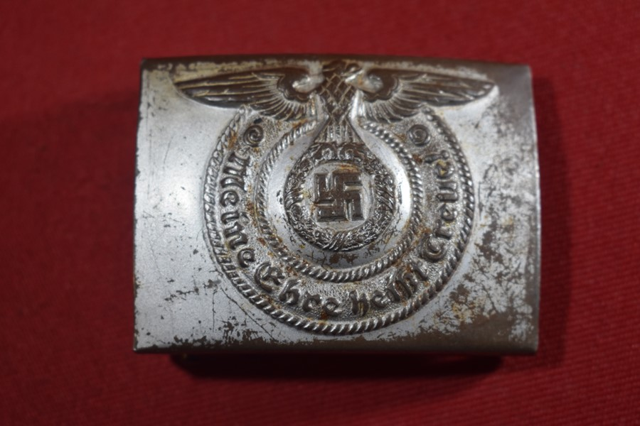 WW2 GERMAN SS BELT BUCKLE RZM 155/40