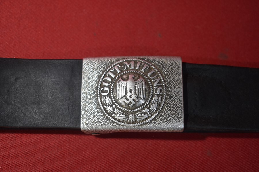 WW2 GERMAN ARMY SOLDIERS BELT AND BUCKLE.-SOLD